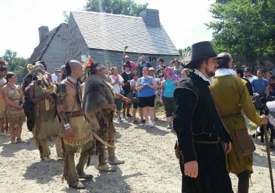 Plimoth Plantation Native Americans Attending Pilgrim Wedding