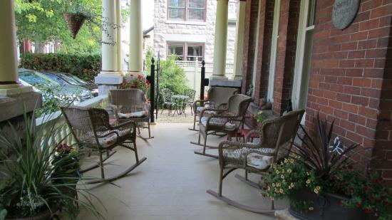 Secret Garden Bed & Breakfast Inn: a section of the front porch