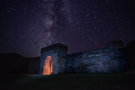 Naryn Province, Kirgisistan: Tash Rabat Caravansari at night