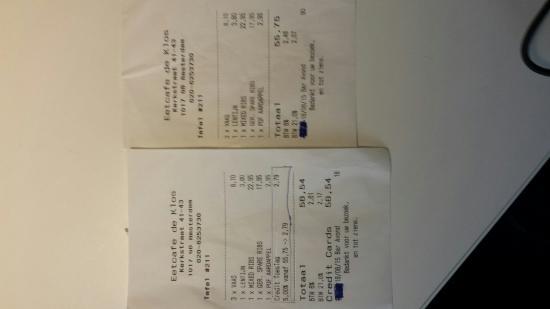 Cafe de Klos : Una vergogna comm.ni se paghi con carra di credito