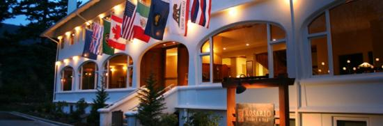 Eastsound, WA: Moran Mansion Entrance at Rosario Resort & Spa