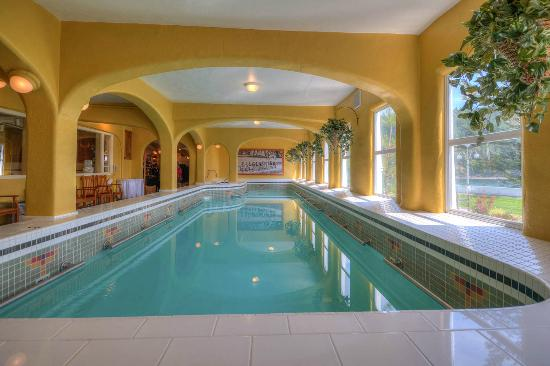 Historic indoor pool in moran mansion picture of rosario for Pool and spa show wa