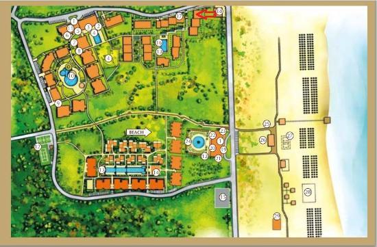 Green Life Beach Resort: Complex Layout