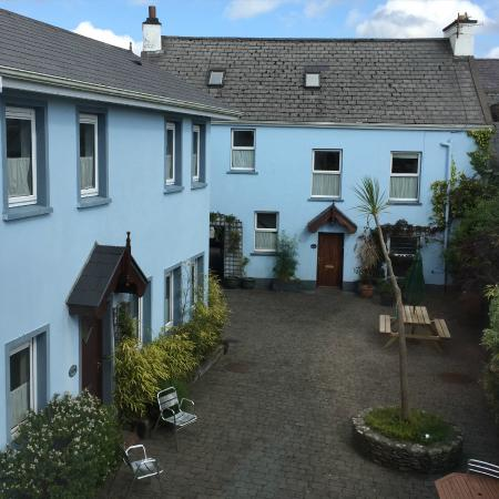 An Capall Dubh: view from our room into the private courtyard