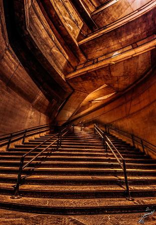 Azadi Tower: Stair Ways below the Tower in entrance of Legs,