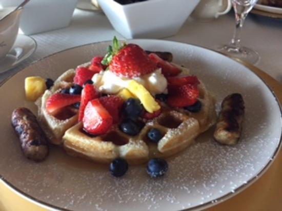 Off the Hook Bed and Breakfast: Off the Hook  B & B  Belgian Waffles