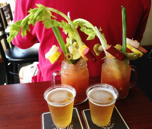Sobelman's: Classic Bloody Mary's with complimentary beer chasers