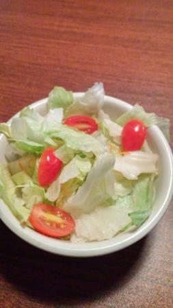 Seadrift, TX: The salad is only TWO grape tomatoes and lettuce