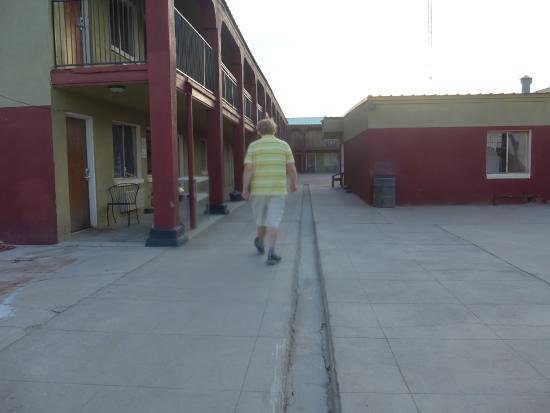 Econo Lodge Pecos: Trench at Ramada Inn, formerly Travelodge