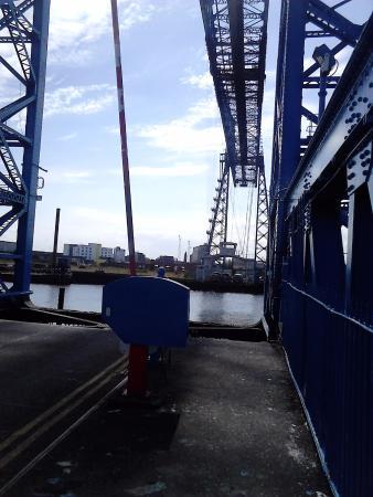 Tees Transporter Bridge: Gondola at the other side