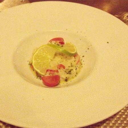 Restaurant la Place: Tartare de saint Jacques