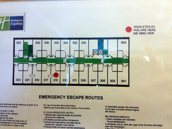 Holiday Inn Express Manchester   Salford Quays: Floor Plan With Room 315
