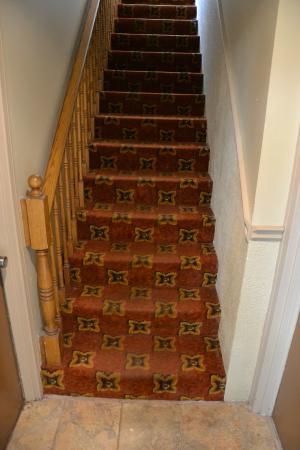 كانتري سكوير ريزورت: Stair to our room (moldy and large exactly as a small suitcase)
