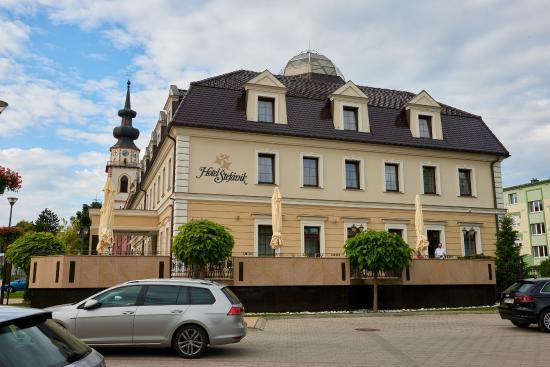 Myjava, سلوفاكيا: Exterior of the hotel