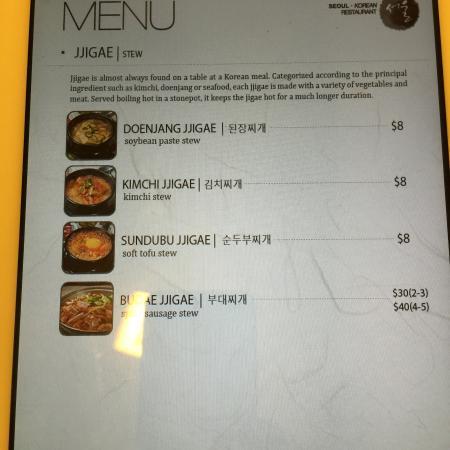 Picture of seoul korean restaurant saskatoon for Asian cuisine saskatoon menu