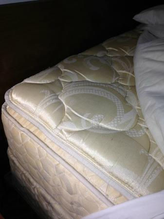 Bass River Motel: Pillowtop mattress looked clean and relatively new.