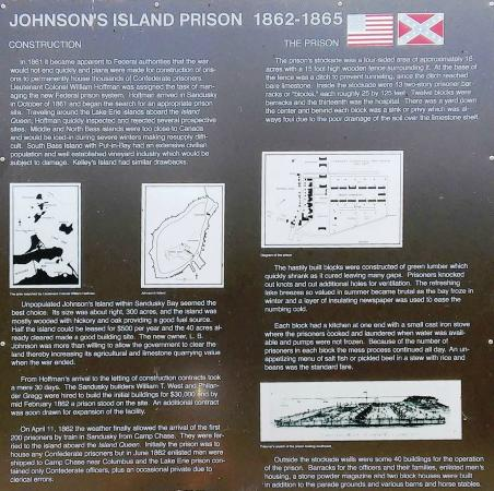 Johnson's Island Confederate Cemetery: Sign at the entrance to the cemetery