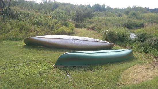 Whiteley Creek Homestead: Complimentary canoes