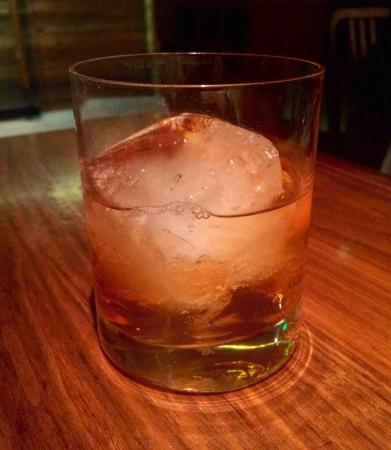 Superb Bulleit Rye old fashioned. Delicious wedge salad and zesty hot ...