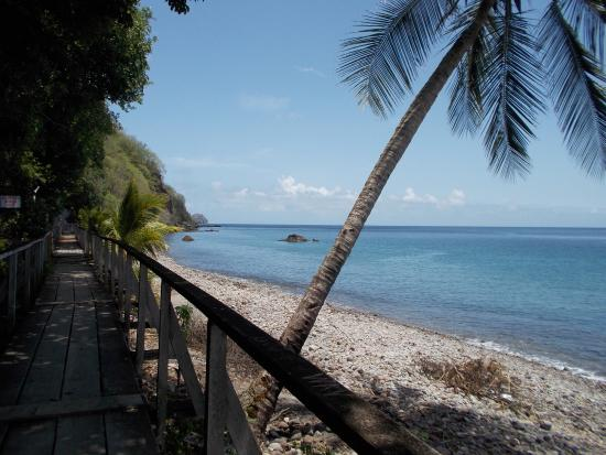 OhLaLa Villas: A view of Dominica's Champange Reef