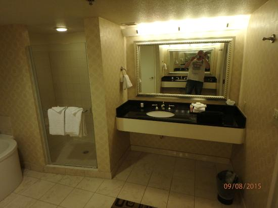 Bathroom Sinks Las Vegas bathroom (double sinks) - picture of planet hollywood resort