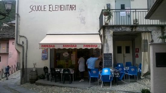 Mini bar finero: Minibar esterno