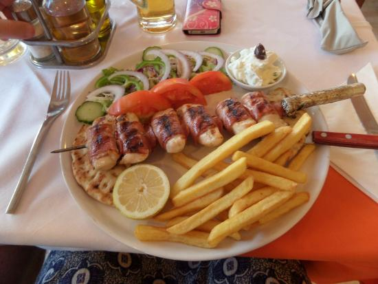 Wine and Roses: Chicken and Bacon Souvlaki