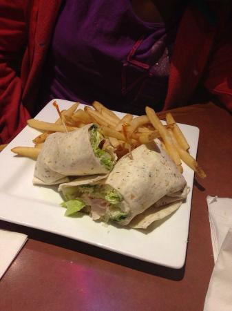 Ole Piper: Chicken caesar wrap...not good