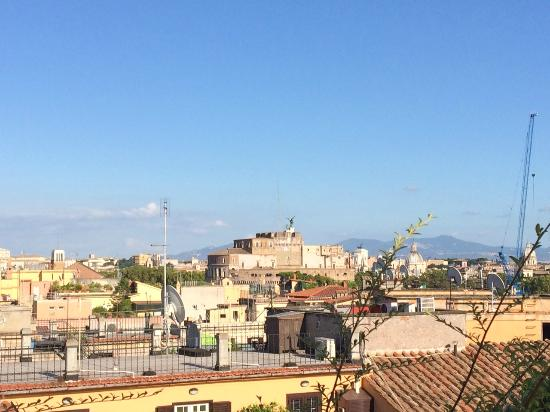 La Maison Royale: Castel St. Angelo from the roof.
