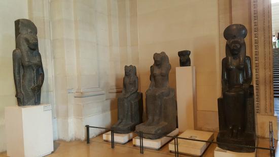 Paris, Frankrike: Egyptian Artifacts @ Louvre