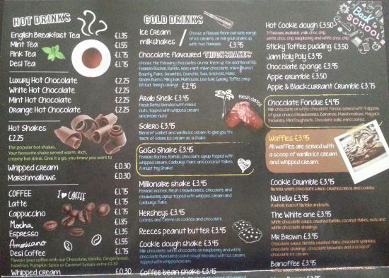 Sugar Deli Cafe Menu