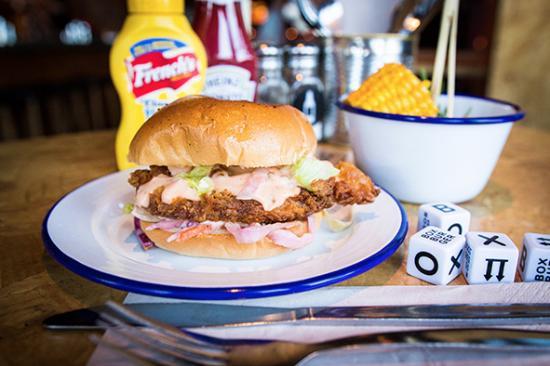 Box Burger: Buttermilk Chicken Burger
