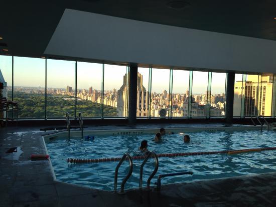 Piscine sur le toit avec vue sur central park photo de for La piscine new york