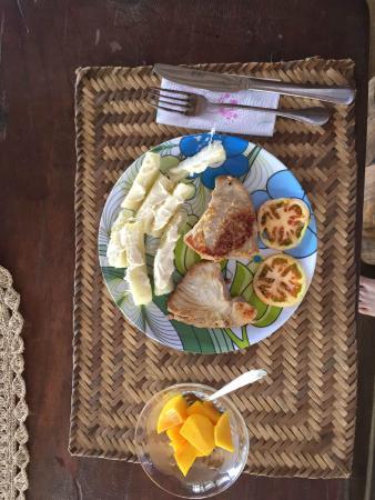 Jardin Botanico del Pacifico: El desayuno!