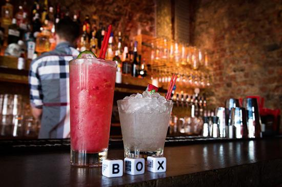 Box Burger: Raspberry Bray and Drumstick Cocktail
