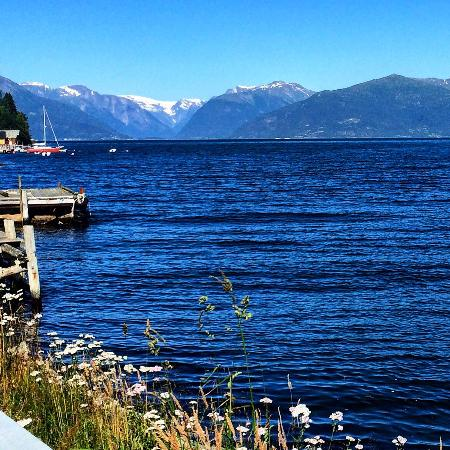 Vik Municipality, นอร์เวย์: View of Sognefjorden from Vikøyri