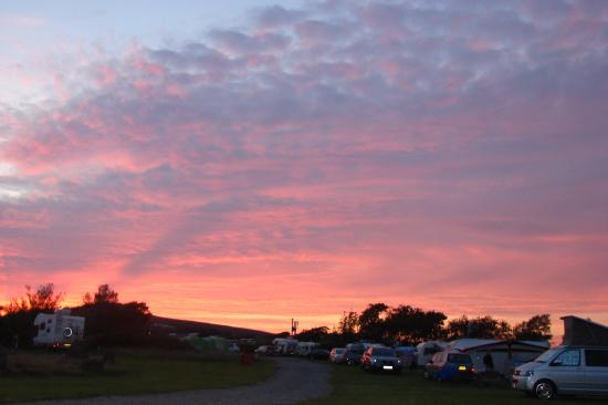 Pitton Cross Caravan & Camping Park: Sunset over Pitton Cross