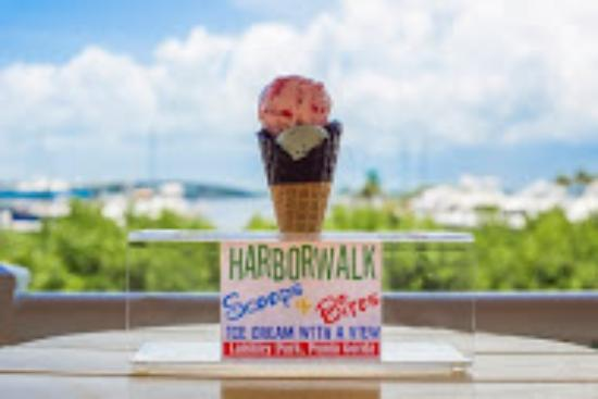 """Harborwalk Scoops & Bites Ice Cream : This is why we like to say we are """"Ice cream with a view""""!"""