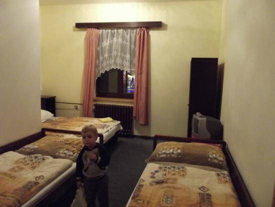 Hotel Mitera: pokoj, který pokračuje za roh vlevo