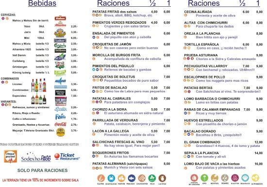 Cafe Mexicana Menu