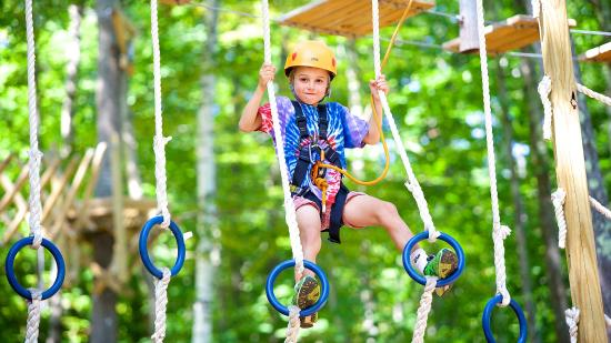 Newbury, NH: Monkey Ropes