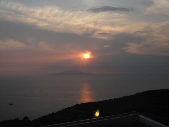 Villa Eliana: View during sunset.