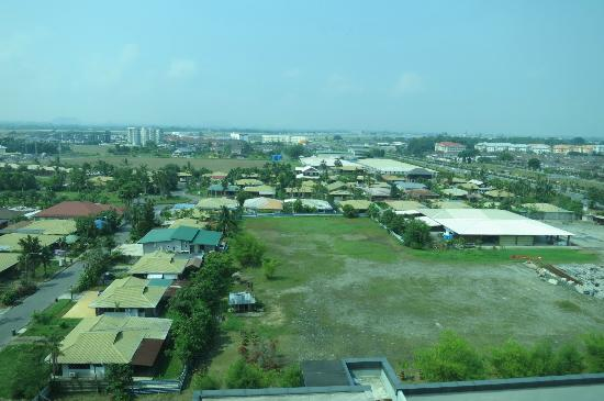 Century Kuching Hotel: View from rooms at back side of hotel; airport in  the backgound