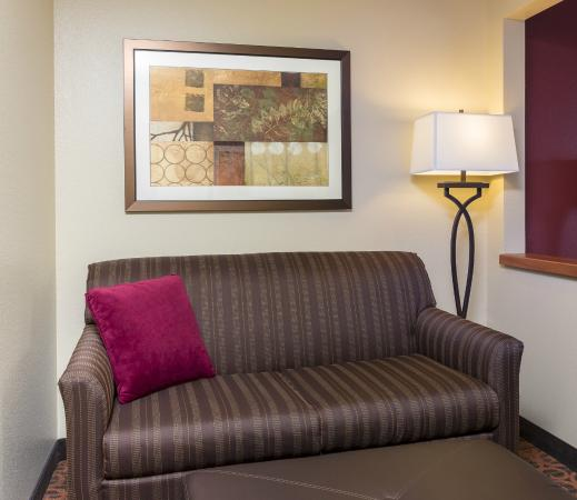 Hampton Inn Houston Stafford: Guestroom with Sofa
