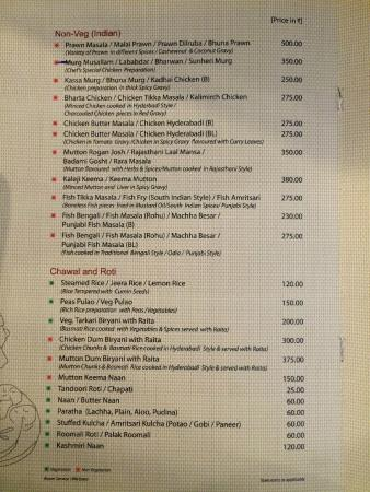 menu picture of ananya restaurant puri tripadvisor