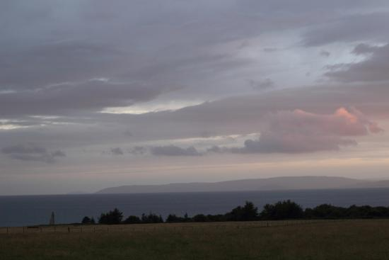 View from Cafe Thyme across to Kintyre on evening of 13.8.15