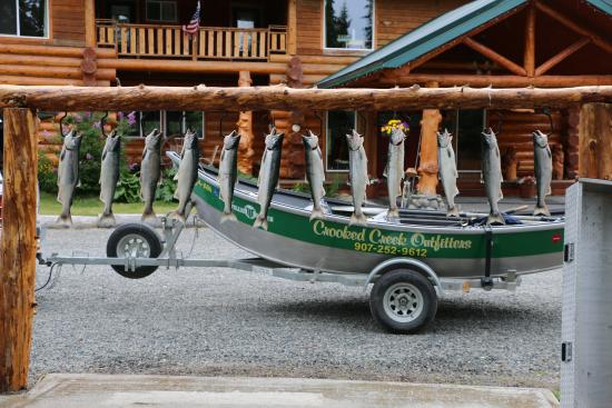 Crooked Creek Retreat & Outfitters : First day Salmon fishing
