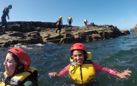 Nevsail Watersports : Coasteering fun in Kilkee at Nevsail