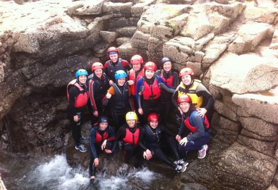 Nevsail Watersports : Fun Hen Party Outing Coasteering in Kilkee with Nevsail