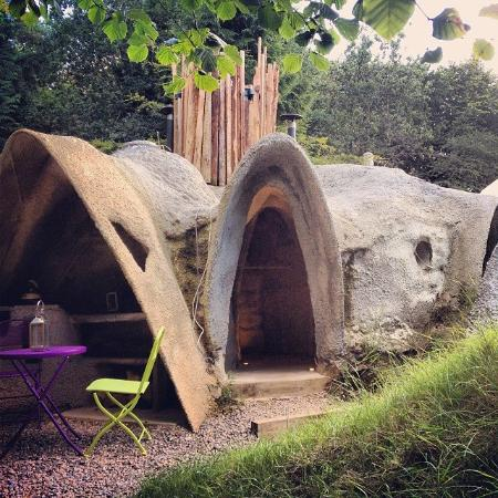 Outside Hobbity Dome Picture of Dome Garden Coleford TripAdvisor